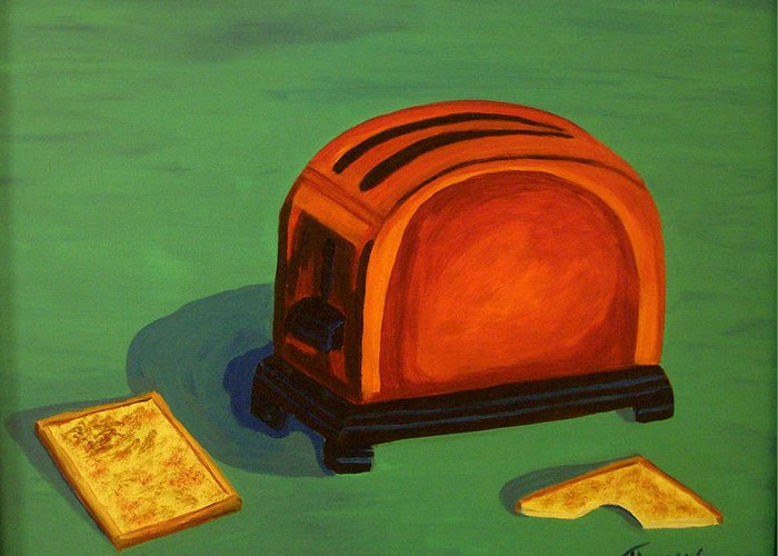 Food Greeting Card featuring the painting Toaster by Cynthia Thomas