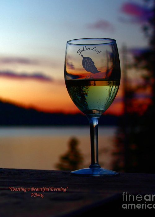 Toasting A Beautiful Evening Greeting Card featuring the photograph Toasting A Beautiful Evening by Patrick Witz