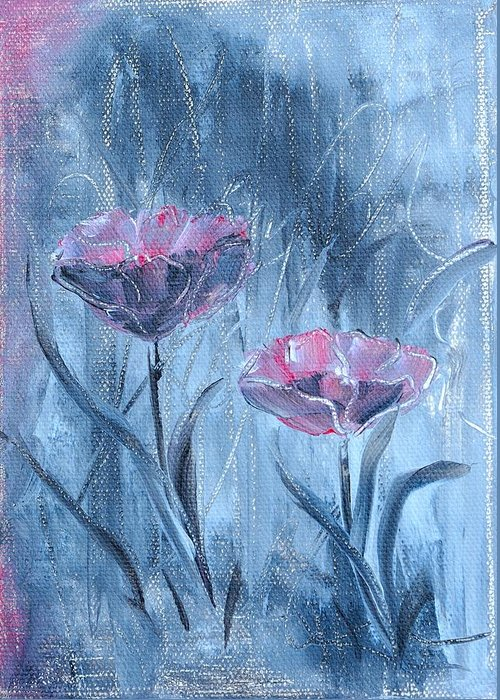 Acrylic Painting Greeting Card featuring the painting Together by Renate Behr