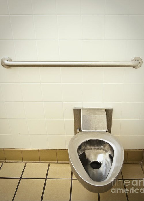 Accessibility Greeting Card featuring the photograph Toilet In A Public Restroom by Thom Gourley/Flatbread Images, LLC