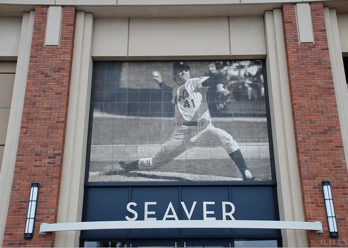 Shea Stadium Greeting Card featuring the photograph Tom Seaver 41 by Rob Hans