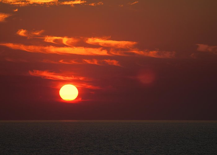 Top-end Sunset Greeting Card featuring the photograph Top End Sunset by Douglas Barnard