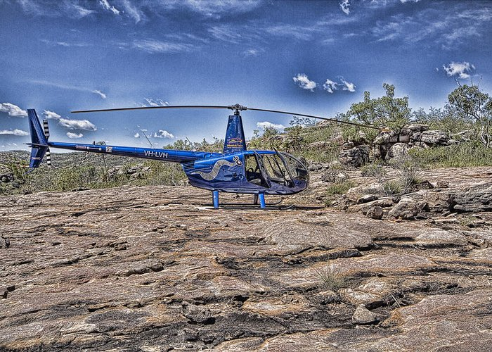 Helicopter Greeting Card featuring the photograph Top of the Gorge by Douglas Barnard