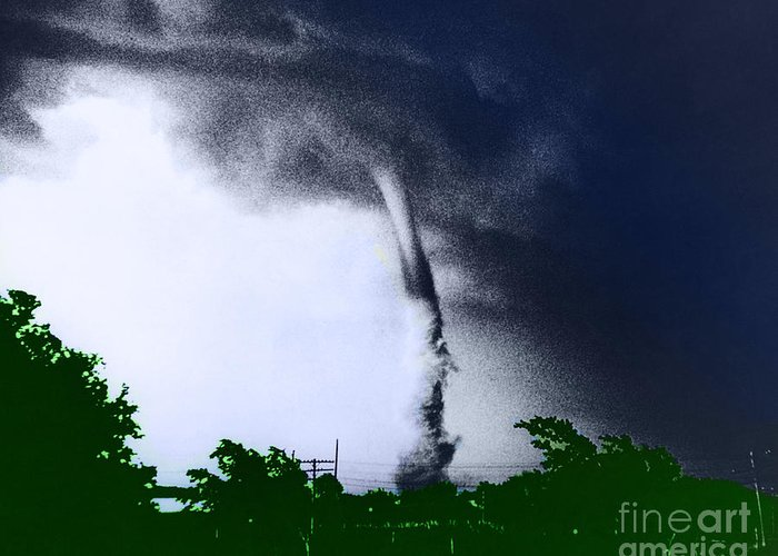 Color Greeting Card featuring the photograph Tornado by Omikron