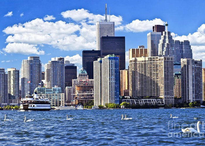 Toronto Greeting Card featuring the photograph Toronto Waterfront by Elena Elisseeva