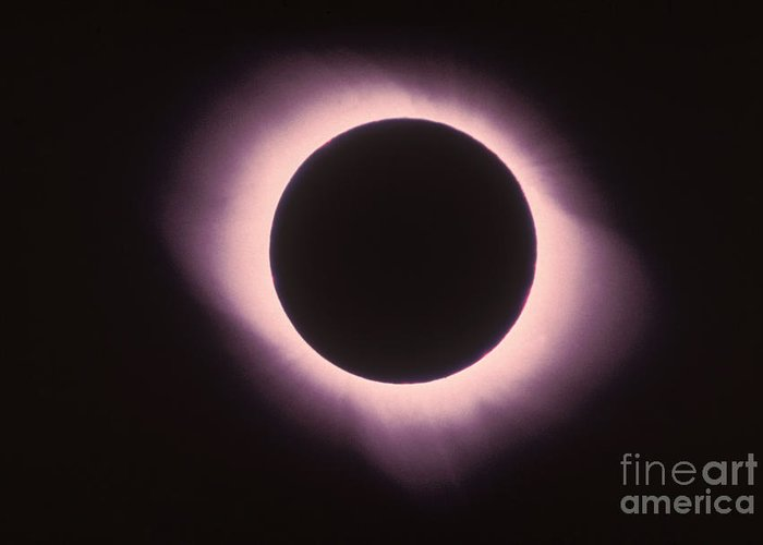 Astronomical Greeting Card featuring the photograph Total Solar Eclipse With Corona by Science Source