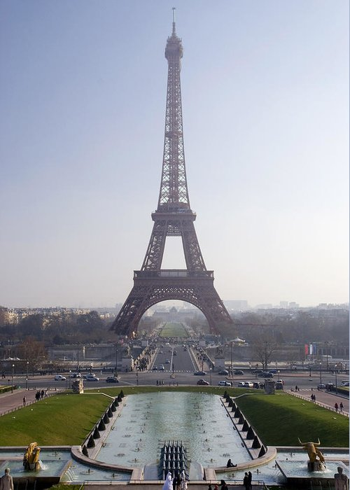 French Greeting Card featuring the photograph Tour Eiffel by Rod Jones