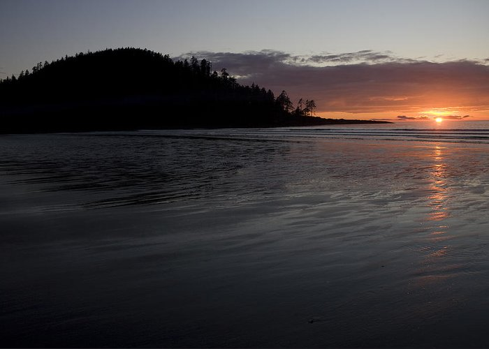 Queen Charlotte Islands Greeting Card featuring the photograph Tow Hill And North Beach At Sunset by Taylor S. Kennedy