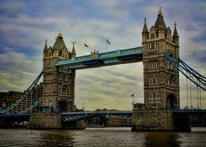 Tower Bridge Greeting Card featuring the photograph Tower Bridge London by Heather Applegate