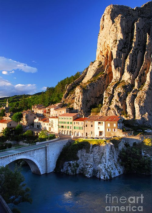 Sisteron Greeting Card featuring the photograph Town Of Sisteron In Provence France by Elena Elisseeva