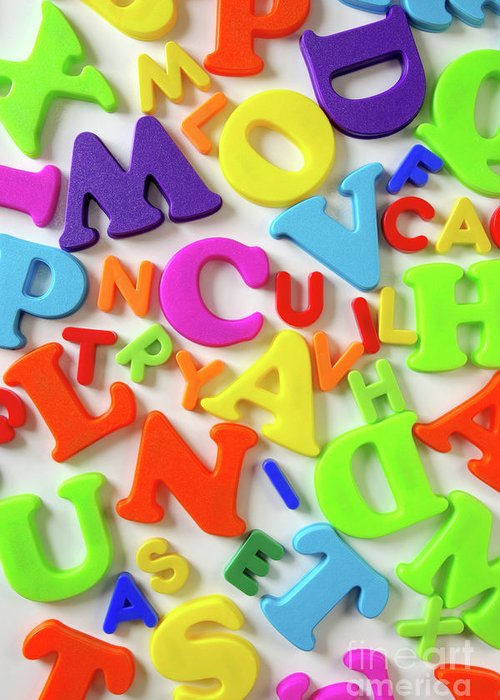 Abc Greeting Card featuring the photograph Toy Letters by Carlos Caetano
