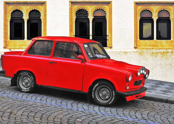 Trabant Greeting Card featuring the photograph Trabant Ostalgie by Christine Till