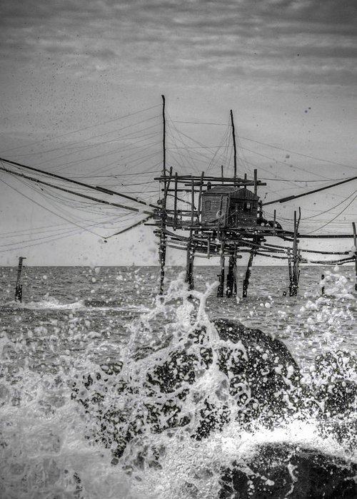 Greeting Card featuring the photograph Trabucco 1 by Michele Mule'