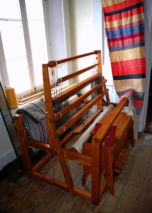 Usa Greeting Card featuring the photograph Traditional Weavers Loom by LeeAnn McLaneGoetz McLaneGoetzStudioLLCcom