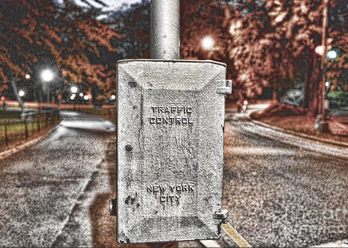 Traffic Control Box Greeting Card featuring the photograph Traffic Control Box by Paul Ward