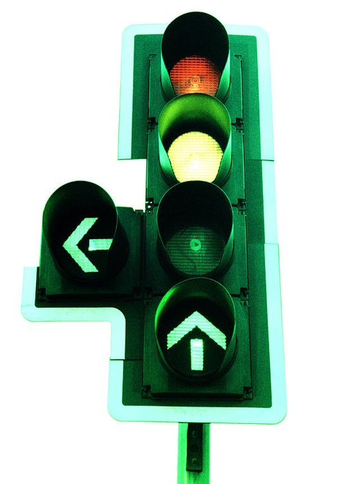 Machine Greeting Card featuring the photograph Traffic Lights by Kevin Curtis