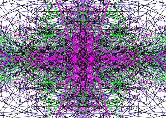 Fractal Greeting Card featuring the digital art Trafficated by George Pedro