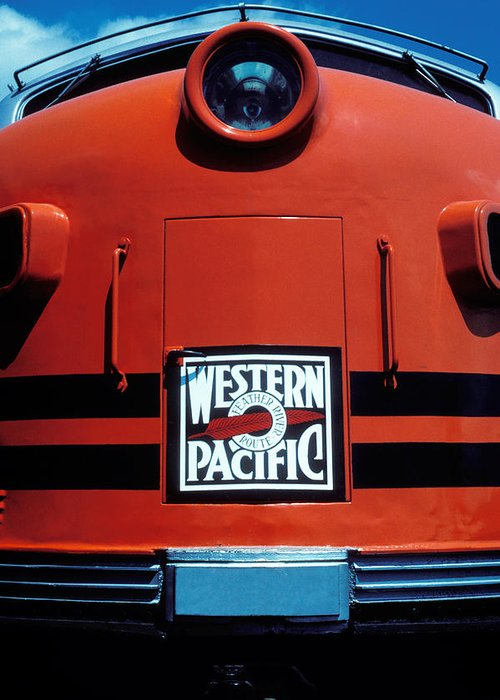Train Greeting Card featuring the photograph Train Western Pacific by Garry Gay