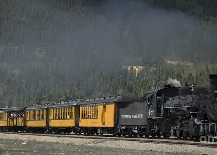 Cumbres & Toltec Greeting Card featuring the photograph Trainload Of Tourists by Tim Mulina