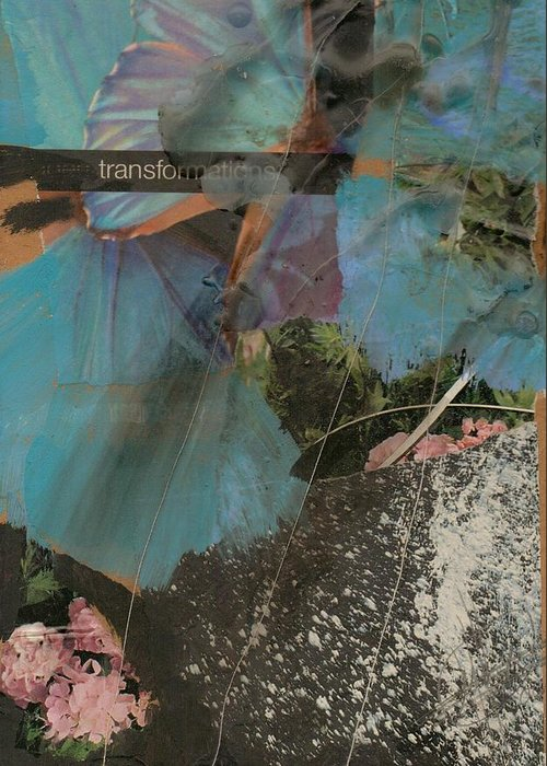 Transform Greeting Card featuring the painting Transformations by Margit Ilika