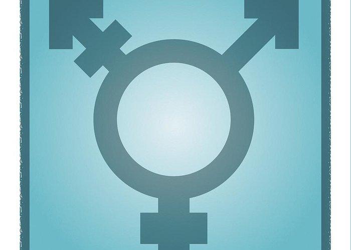 Transgender Symbol Greeting Card featuring the photograph Transgender Symbol, Artwork by Stephen Wood