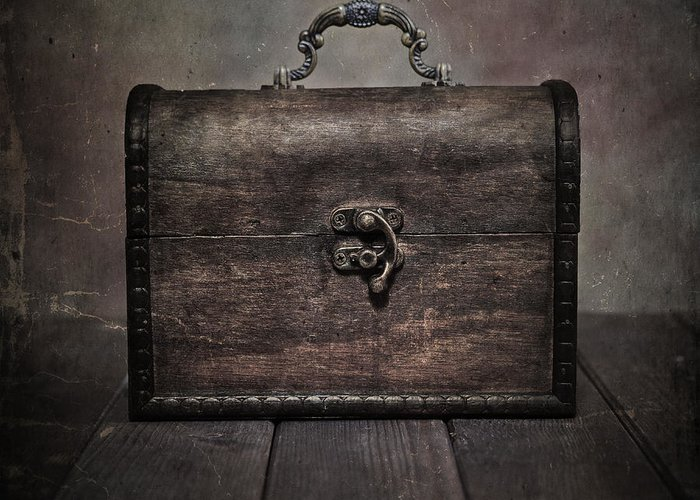 Chest Greeting Card featuring the photograph Treasure by Joana Kruse