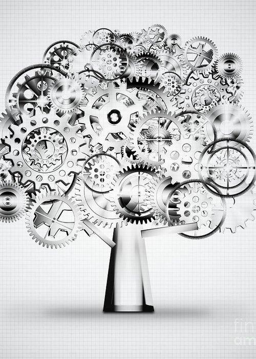 Art Greeting Card featuring the photograph Tree Of Industrial by Setsiri Silapasuwanchai