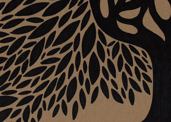 Tree Of Life Greeting Card featuring the drawing Tree Of Life by HD Connelly