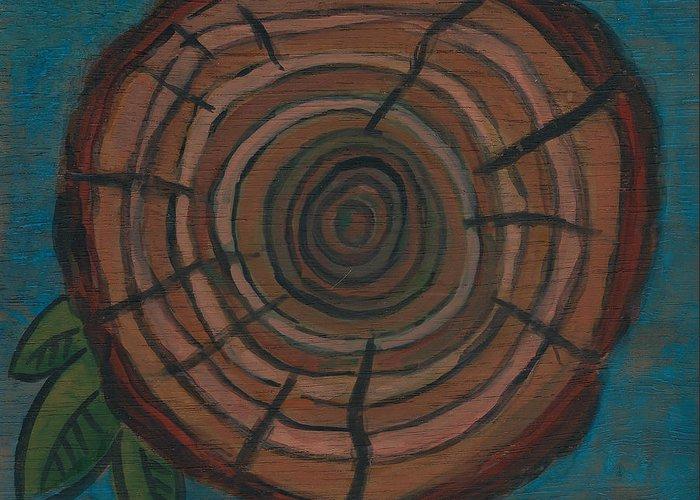Tree Ring Painting By Kristen Fagan