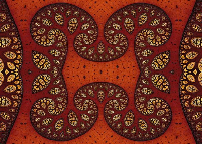 Fractal Greeting Card featuring the digital art Trees In Shades Of Russet by Mark Eggleston