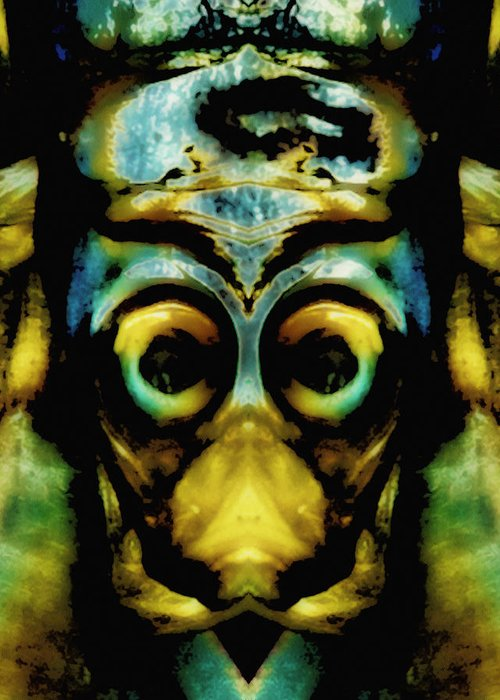 Abstract Greeting Card featuring the photograph Tribal Mask by Skip Nall