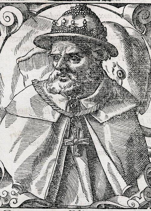 Tristao Da Cunha Greeting Card featuring the photograph Tristao Da Cunha, Portuguese Explorer by Middle Temple Library