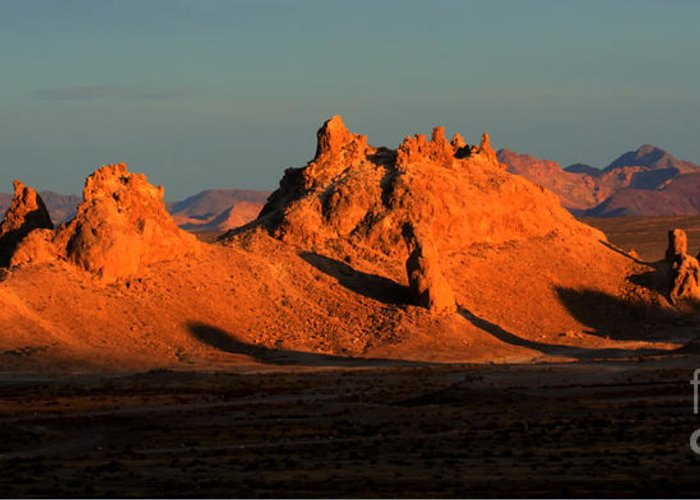 Trona Greeting Card featuring the photograph Trona Pinnacles Panorama by Bob Christopher