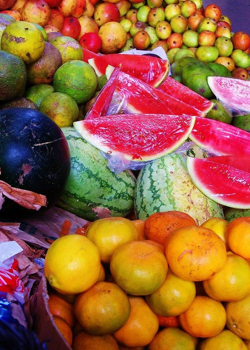Fruit Greeting Card featuring the photograph Tropical Colouring by Bram Voets