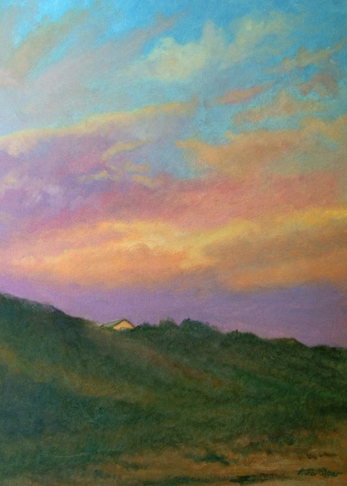 Landscape Greeting Card featuring the painting Truro Sunset by Phyllis Tarlow