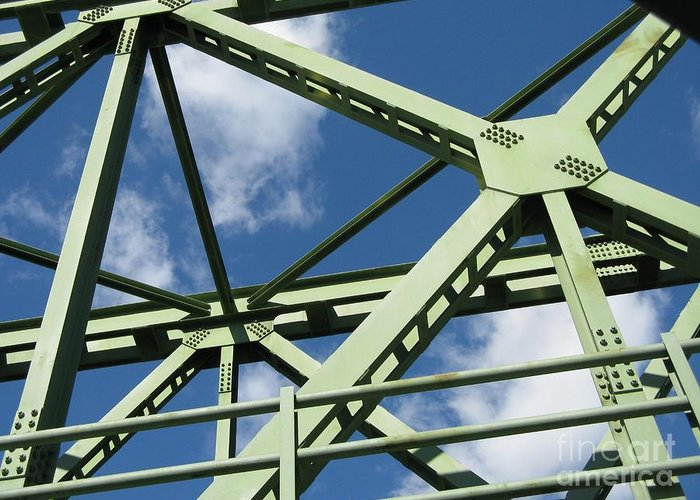 Architecture Greeting Card featuring the photograph Truss by Arlene Carmel