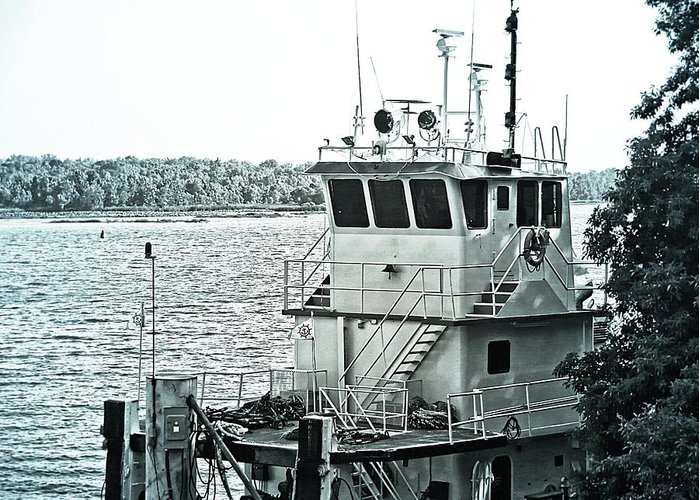 Boat Greeting Card featuring the photograph Tug Boat by Jeanette Hiestand