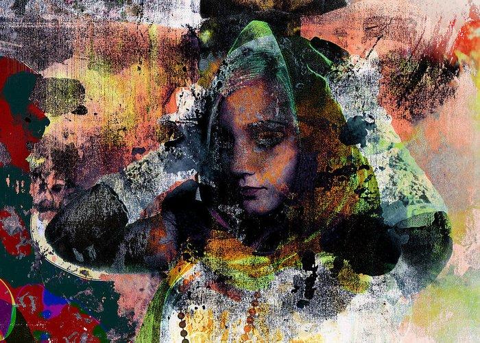 Photomanipulation Greeting Card featuring the digital art Tungsten by Adam Kissel