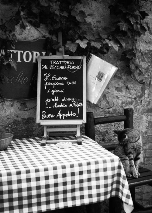 Tuscany Greeting Card featuring the photograph Tuscan Cafe Diner by Andrew Soundarajan