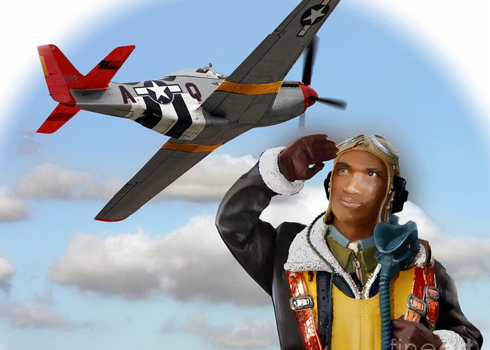 Tuskegee Greeting Card featuring the photograph Tuskegee Airman by Tom Griffithe