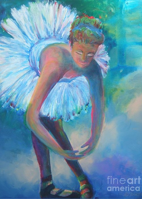 Tutu Greeting Card featuring the painting Tutu by Deb Magelssen
