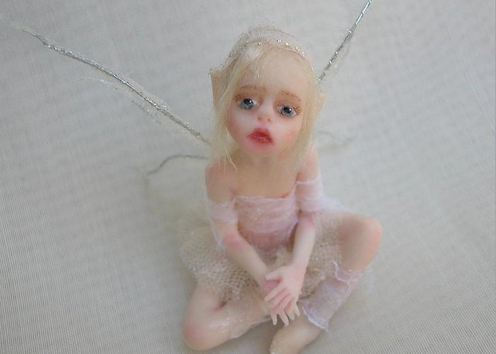 Fairy Greeting Card featuring the photograph Twiggy Mae Fairy by Deborah Gouldthorpe