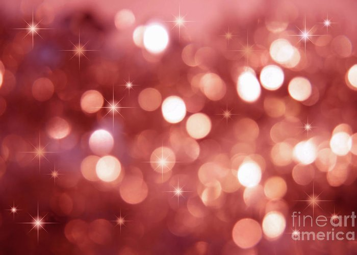 Abstract Greeting Card featuring the photograph Twinkle Little Stars by Sandra Cunningham