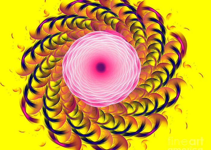 Fractal Greeting Card featuring the digital art Twirl by Richard Ortolano