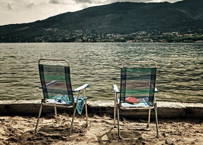 Two Greeting Card featuring the photograph Two Chairs by Joana Kruse