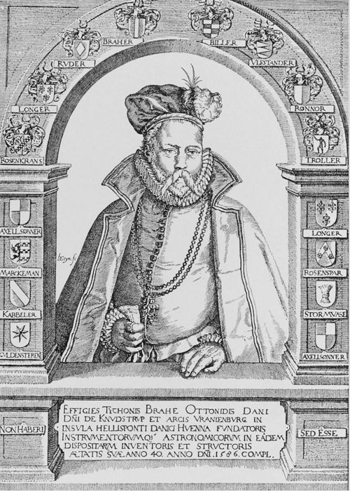 Brahe Greeting Card featuring the photograph Tycho Brahe by Science, Industry & Business Librarynew York Public Library