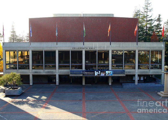 Zellerbach Greeting Card featuring the photograph Uc Berkeley . Zellerbach Hall . 7d10012 by Wingsdomain Art and Photography
