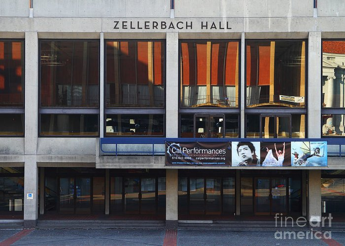 Zellerbach Greeting Card featuring the photograph Uc Berkeley . Zellerbach Hall . 7d9989 by Wingsdomain Art and Photography