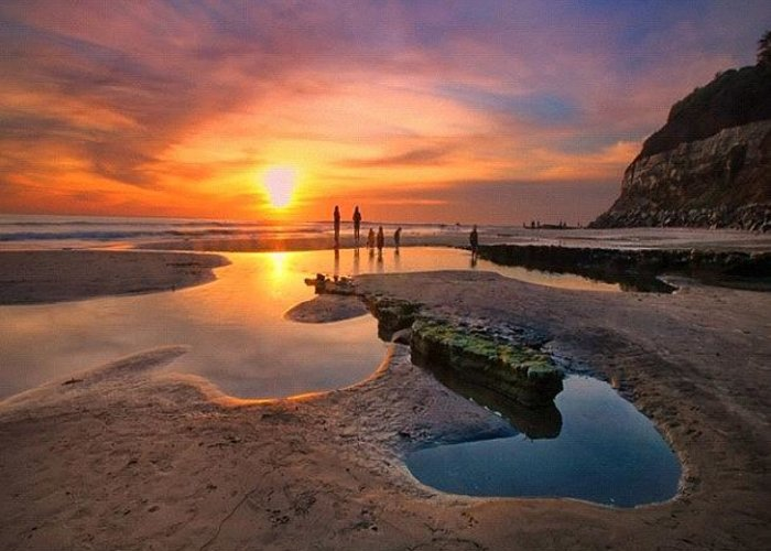 Greeting Card featuring the photograph Ultra Low Tide Sunset At A North San by Larry Marshall