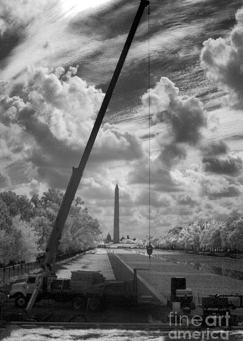 National Mall Greeting Card featuring the photograph Under Construction by Mike Kurec